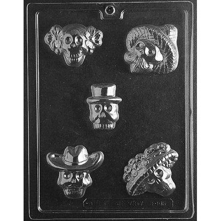 Day of the Dead Halloween Chocolate Candy Mold with Exclusive Cybrtrayd Copyrighted Molding Instructions](Day Of The Dead Candy)