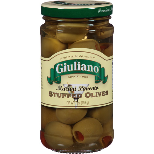 Giuliano Martini Pimento Stuffed Olives, 7 oz, (Pack of, 6)