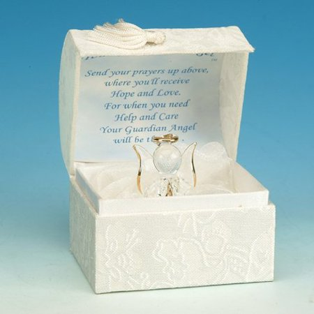 Glass Guardian Angel Box Collectible Decoration Design Container