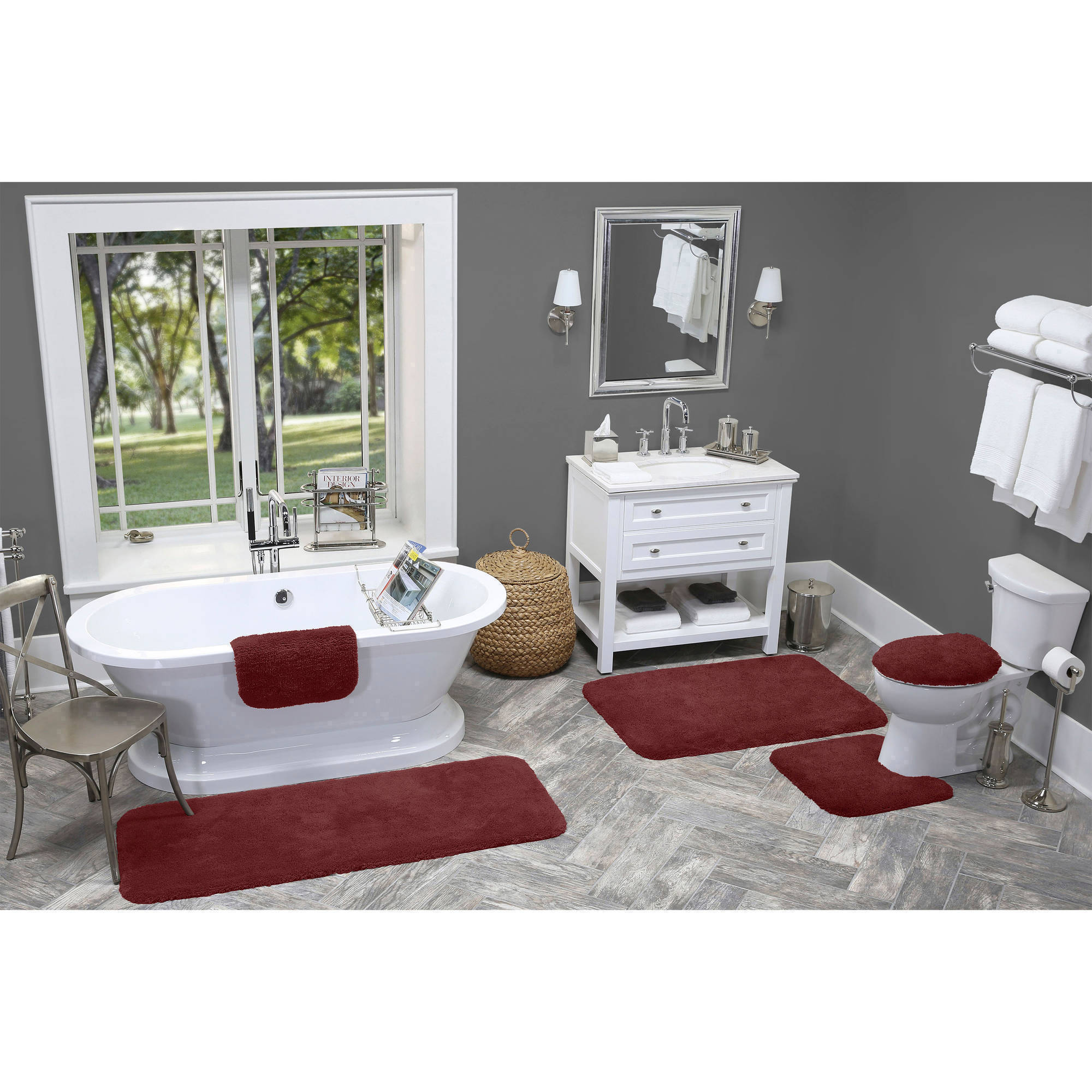 Made Here Nylon Bath Rug Collection, Multiple Sizes And Colors
