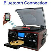 Boytone BT-22C Bluetooth Record Player Turntable AM/FM Radio Cassette CD Player, Built in Speaker, Ability to Convert Vinyl, Radio, Cassette, CD to MP3 Without a Computer