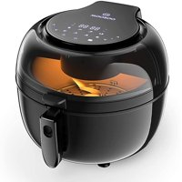 Moosoo 8-In-1 7Qt Air Fryer Oven for Oil-less Air Frying with Cookbook