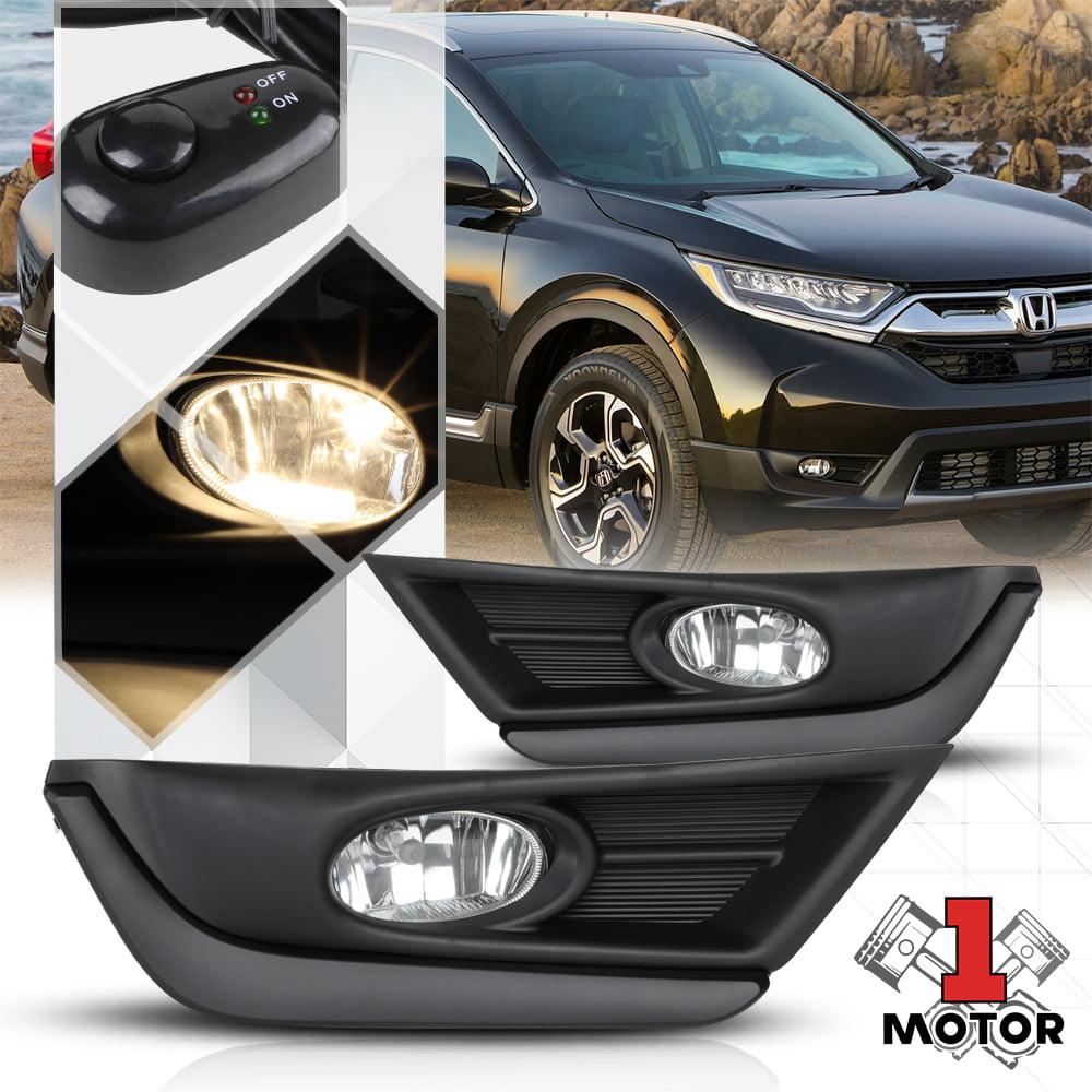 For 17-18 Honda CR-V Clear Lens Front Bumper Fog Light//Lamp+Black Bezel+Switch
