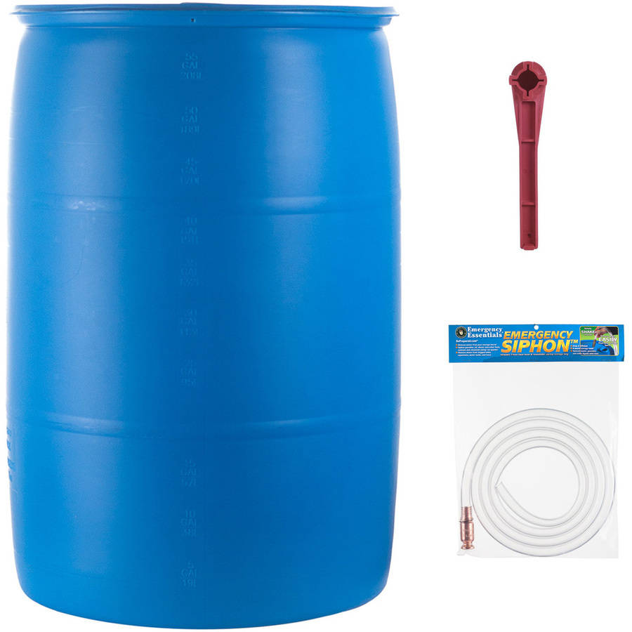 Emergency Essentials Food 55-Gallon Water Barrel Set, 3 pc