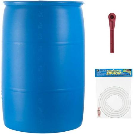 Emergency Essentials Food 55 Gallon Water Barrel Set 3 Pc Walmartcom