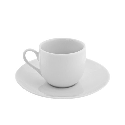 TenStrawberryStreet Classic White 3 oz. Teacup and Saucer (Set of 6)