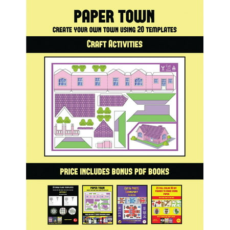 craft activities craft activities paper town create your own town using 20 templates 20. Black Bedroom Furniture Sets. Home Design Ideas