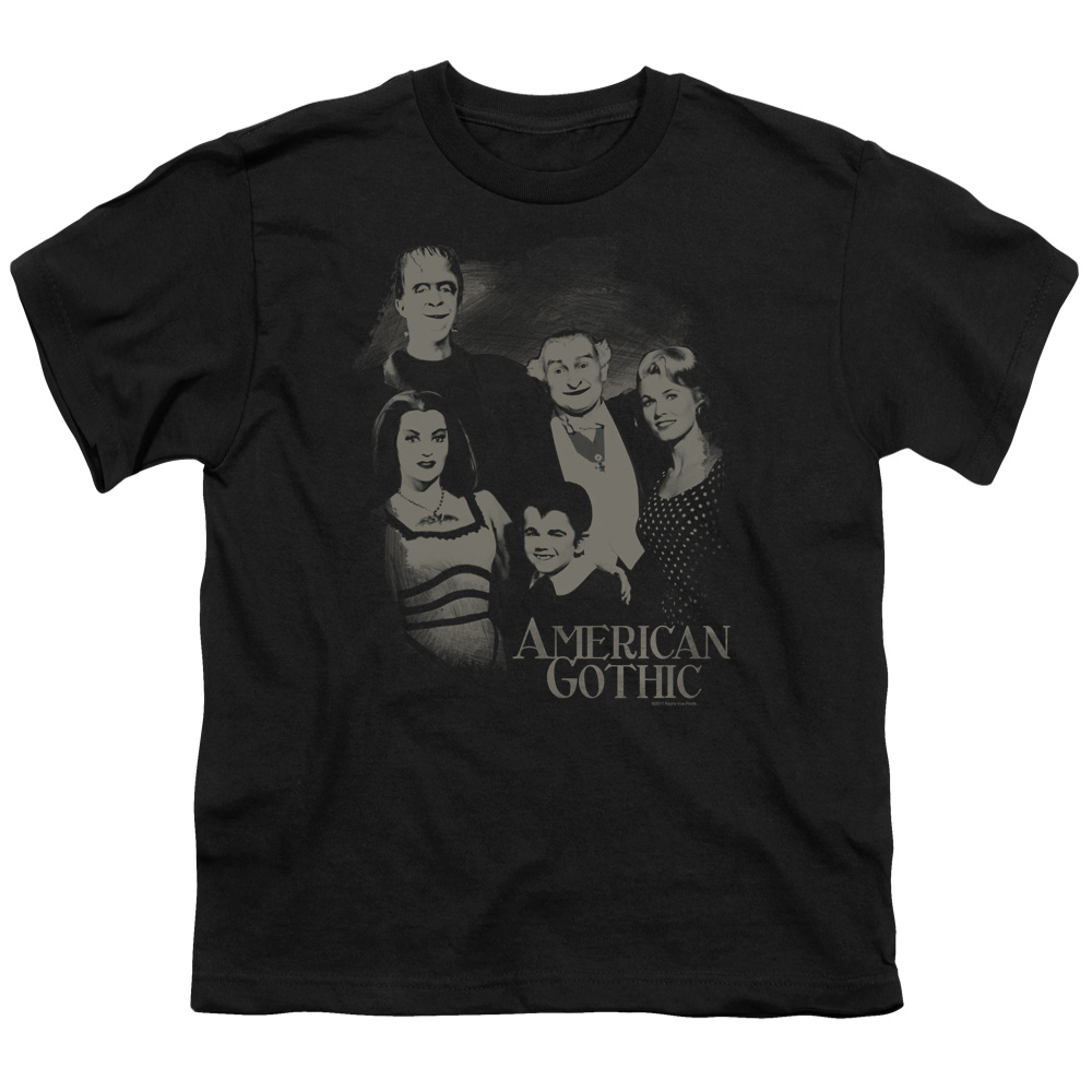 The Munsters/American Gothic   S/S Youth 18/1   Black     Nbc425