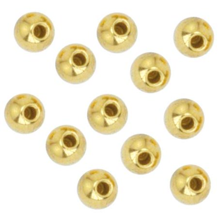 Beadalon Gold Plated Memory Wire End Cap Beads 3mm (12)