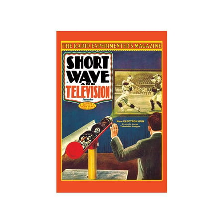 Short Wave And Television  New Electronic Gun Projects Large Television Images Print  Unframed Paper Print 20X30