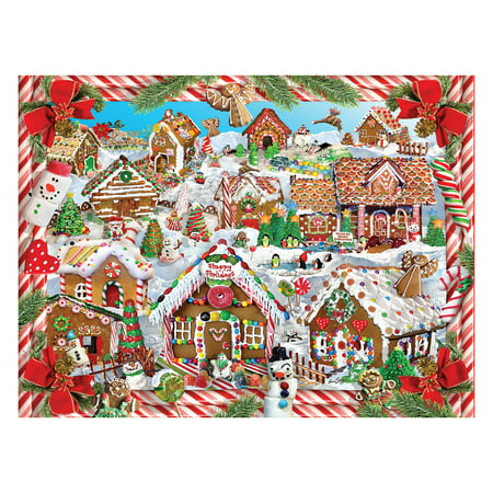 White Mountain Puzzles Gingerbread Village - 1000 Piece Jigsaw - Gingerbread Puzzle House