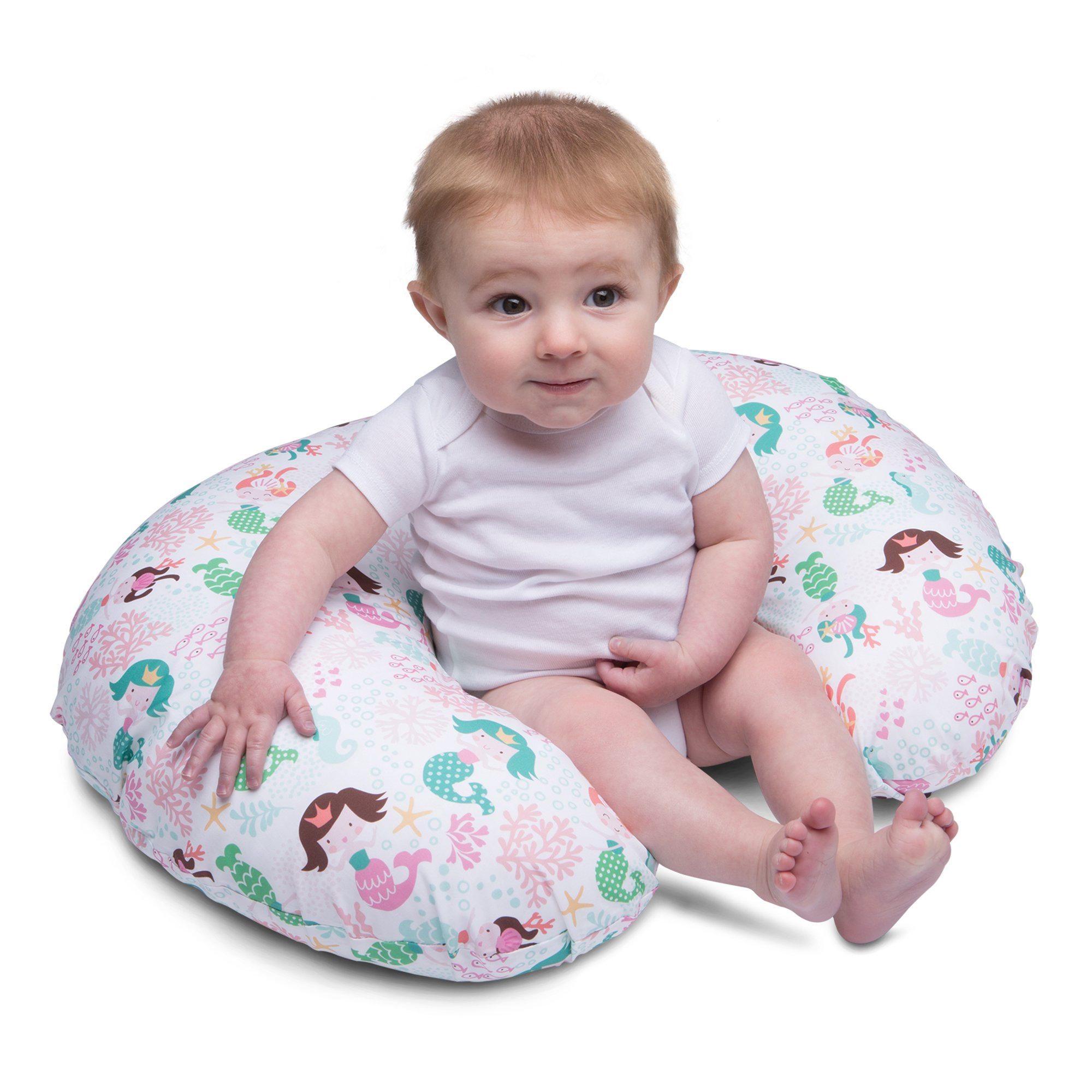 Boppy Pillow Slipcover Classic Mermaids Pink