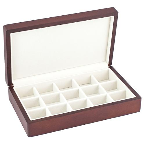 Vintage Wood Finish Multi Purpose 15-Slot Jewelry Box