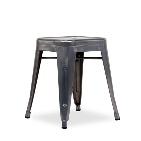 Peachy Occ Industrial Style Backless Metal Industrial Stack Stool 18 High Metallica Cafe Stool Black Uwap Interior Chair Design Uwaporg