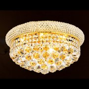 "Worldwide Lighting W33011g16 Empire 8 Light 16"" Flush Mount Ceiling Fixture In G - Gold"