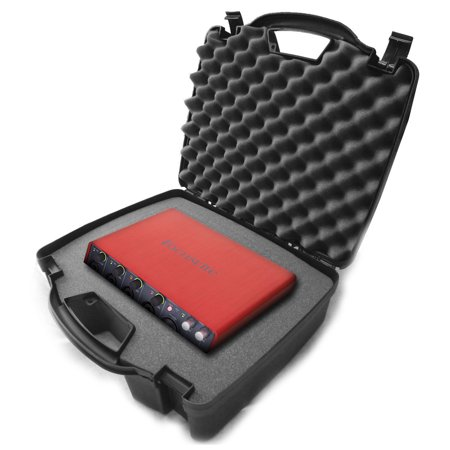 STUDIOCASE Protective USB Audio Interface Case W/ Carry Travel Handle - fits 2nd Gen Focusrite Scarlett Solo 2i2 , 6i6 , 2i4 , 18i8 and More Studio Recording , DJ Mixer Music Equipment