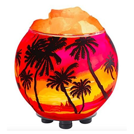 Himalayan Crystal Litez Rock Salt Lamp in Handcrafted Artisan Bowl with UL Listed Dimmer Cord Natural Aromatherapy Diffuser (Park Handcrafted Lamp)