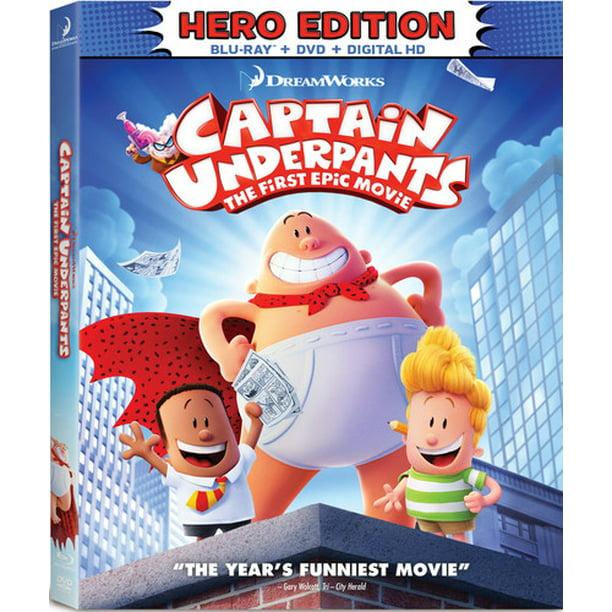 Captain Underpants The First Epic Movie Hero Edition Blu Ray Dvd Walmart Com Walmart Com