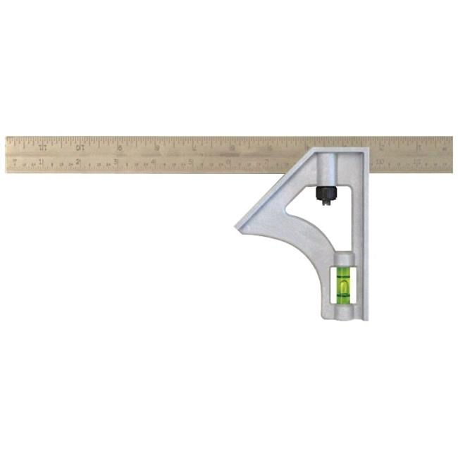 Johnson Level 415EM 12 in. Structo-Cast Inch & Metric Combination Square by Johnson Level