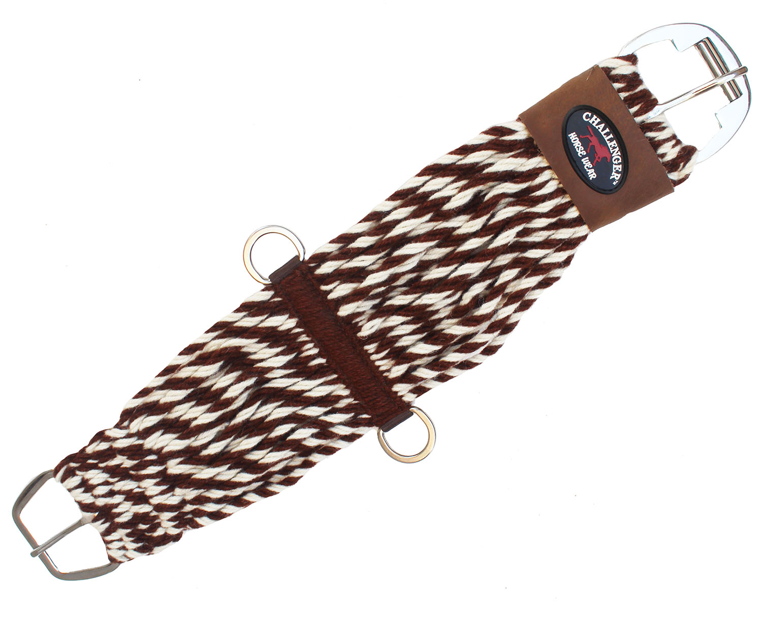 Horse Western 27 Strand Double Weave Two-Tone Mohair Straight Cinch 97RT10