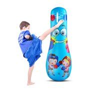 Inflatable Punching Bag Free Standing Boxing Bag Toy Sports Fitness Training Equipment for Children Adults