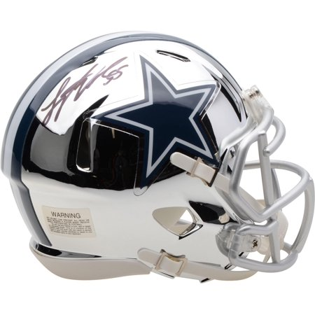 Leighton Vander Esch Dallas Cowboys Autographed Riddell Chrome Alternate Speed Mini Helmet - Fanatics Authentic Certified