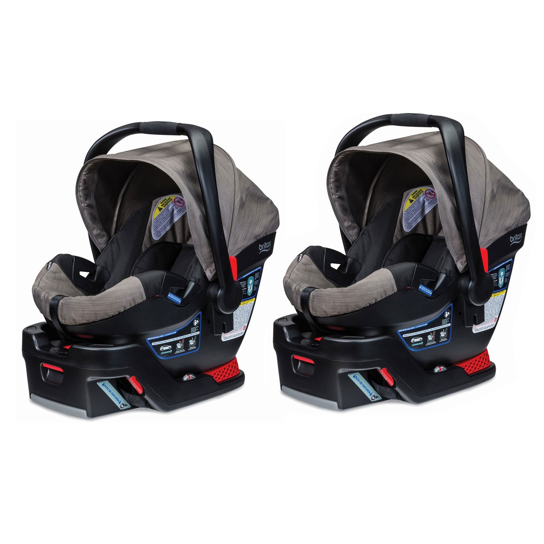 Britax B Safe 35 Side Protection Infant Car Seat with Base, Slate Strie (2 Pack)