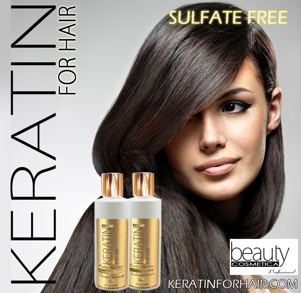 Keratin For Hair Smoothing Sulfate Free Shampoo Conditioner Champu Acondicionador Suavizante  8 fl oz
