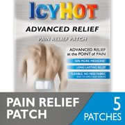 Icy Hot Advanced Relief Pain Relief Patches, 5 count, No Mess