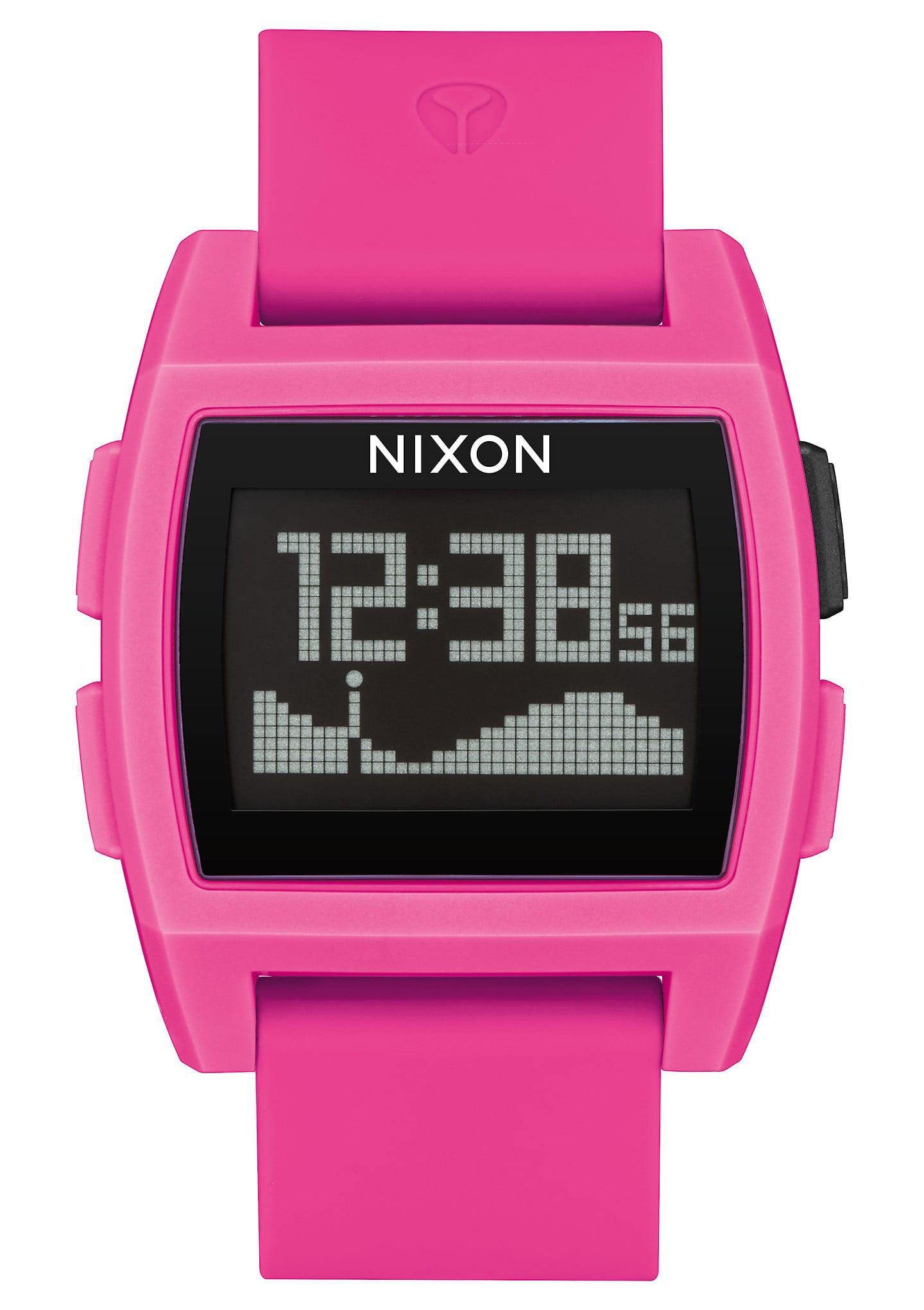Nixon Base A1104-2688 Digital/Black/Pink Silicone Digital Quartz Unisex Watch