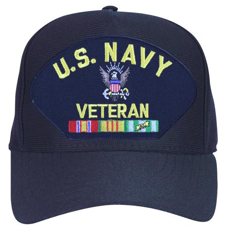 U.S. Navy Veteran with Logo and Vietnam Ribbons Ball Cap