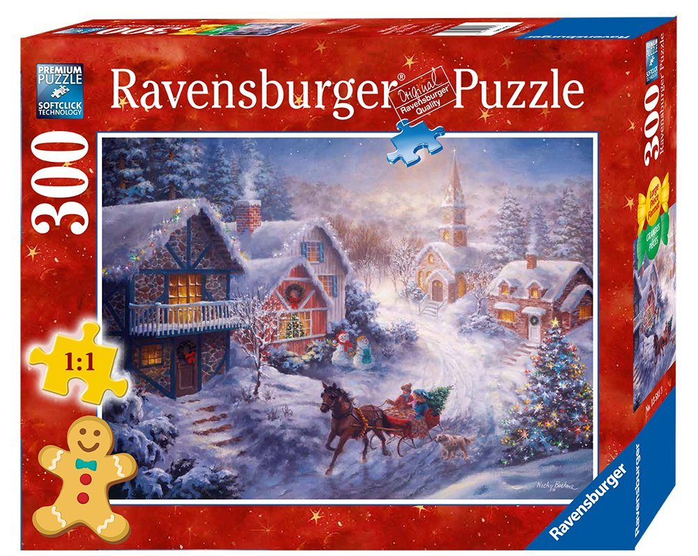 "Dashing Through the Snow Format Puzzle (300 Piece), Large, Puzzle measures: 27"" x 20"" By... by"