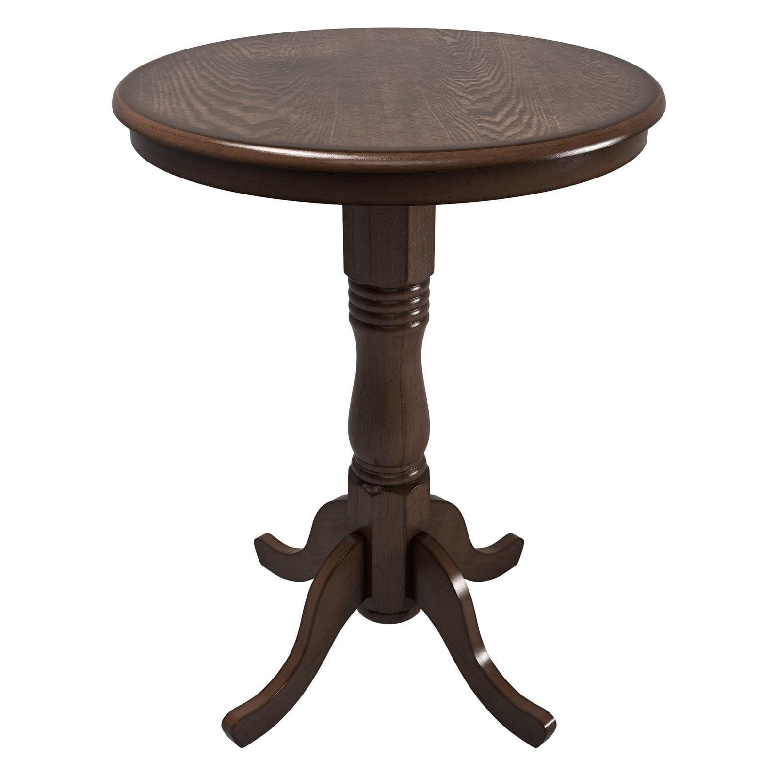 CorLiving Woodgrove Dark Brown Bar Table with Pedestal Base