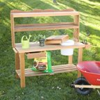 All Things Cedar Potting Bench Walmart Com