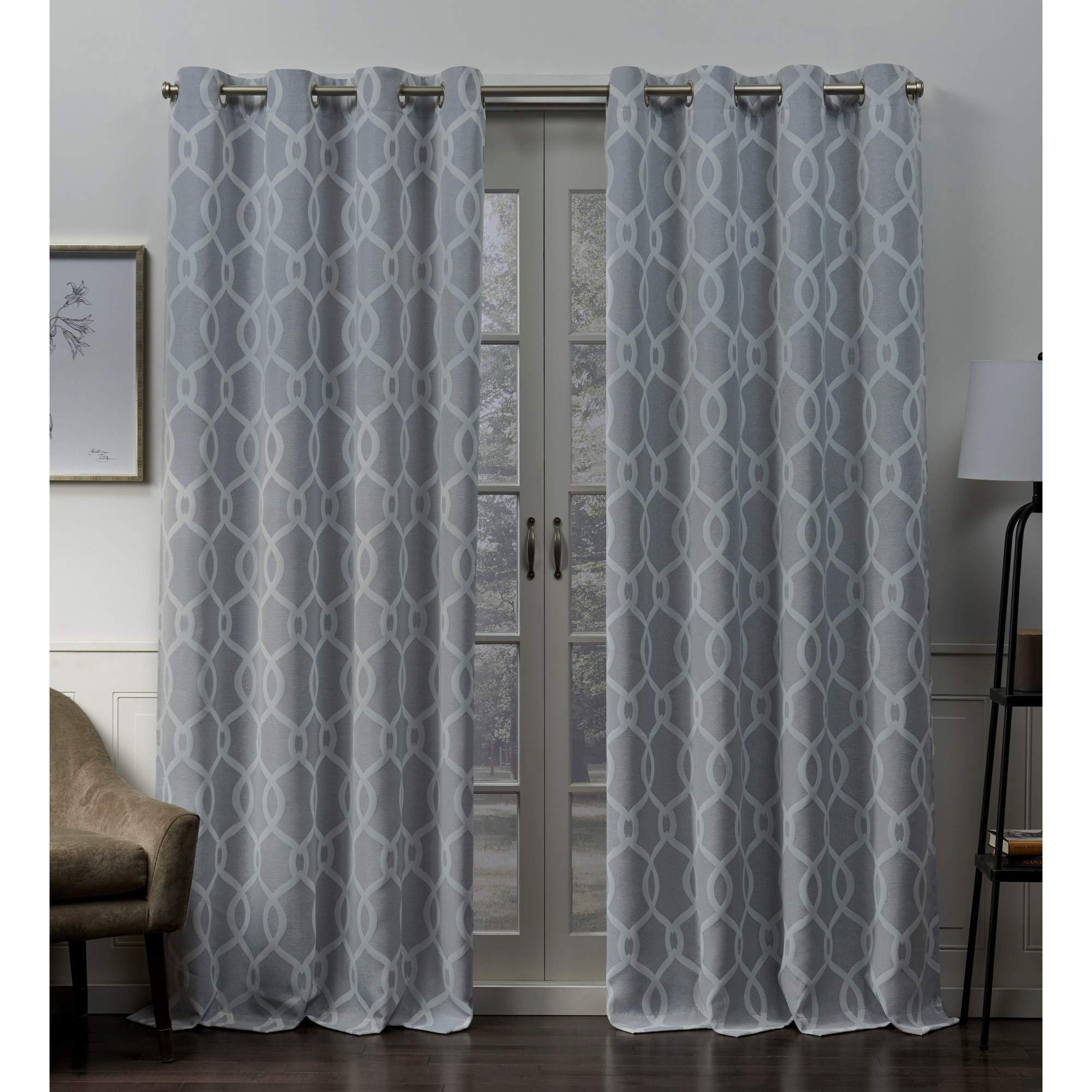 Exclusive Home Trilogi Woven Blackout Grommet Top Curtain Panel Pair