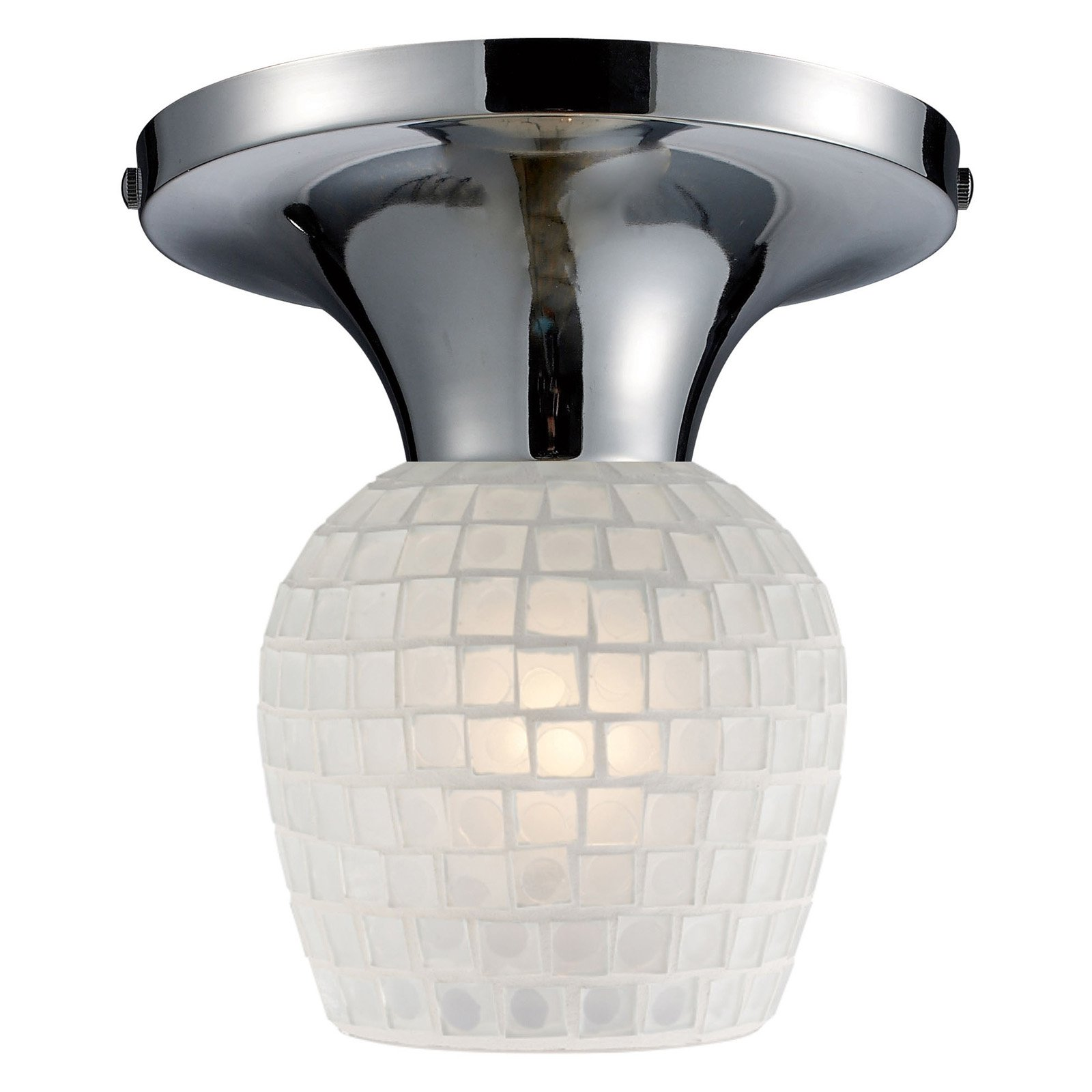 ELK Lighting Celina Square Glass Semi Flush Mount Light