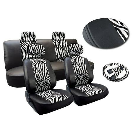 White And Black Zebra 13 Piece Stripes Print Delu