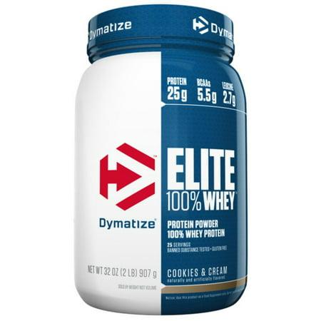 Dymatize Elite 100% Whey Protein Powder, Cookies & Cream, 25g Protein/Serving, 5