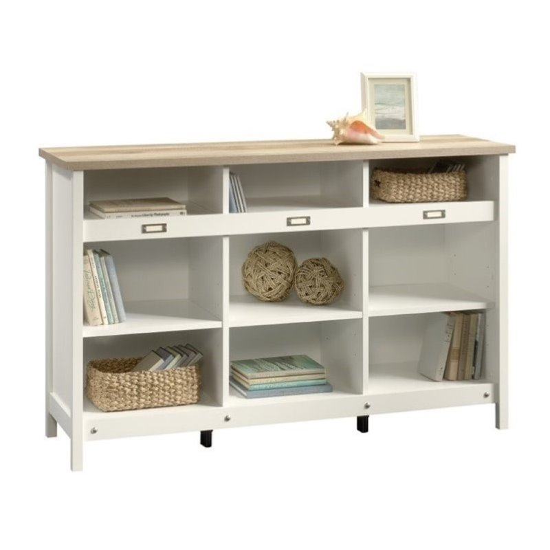 Pemberly Row 9 Cubby Bookcase in Soft White