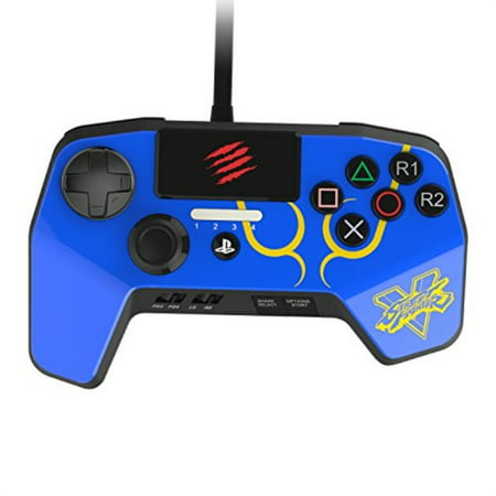 Mad Catz PS4CONSFBL PS4 Street Fighter Game Pad Controller -