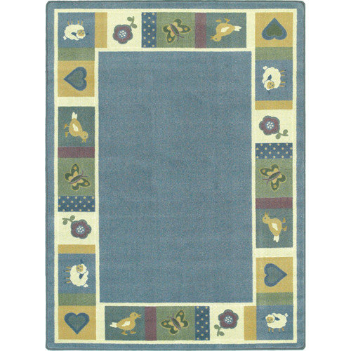 Joy Carpets Just for Kids Baby Soft Light Blue Area Rug