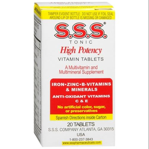 S.S.S. Tablets 20 Tablets (Pack of 6)