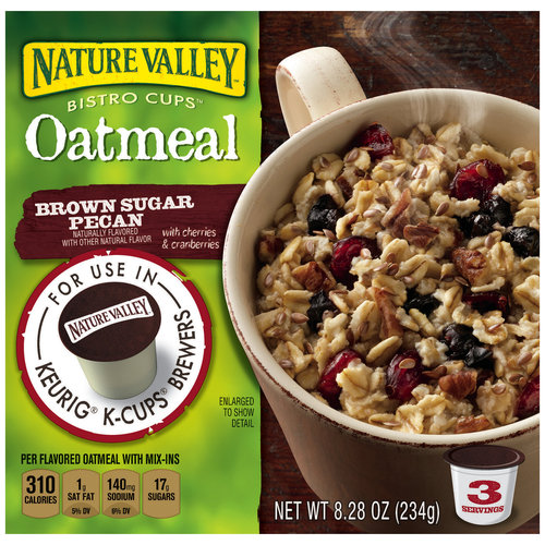 Nature Valley Bistro Cups Brown Sugar Pecan Oatmeal, 3 count, 8.28 oz