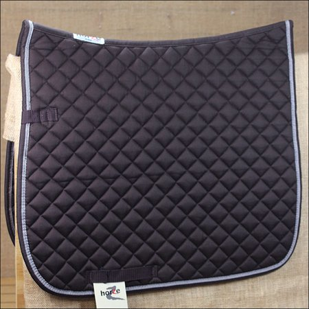 FULL CHOCO BROWN HORZE PRINZE DRESSAGE ENGLISH COTTON FOAM SADDLE PAD HORSE