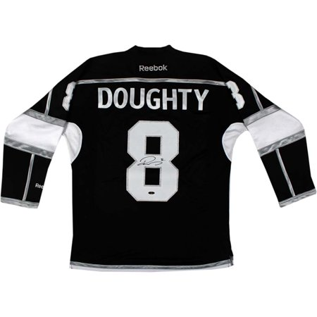 Drew Doughty Signed Los Angeles Kings Black Jersey w  Stanley Cup Patch by