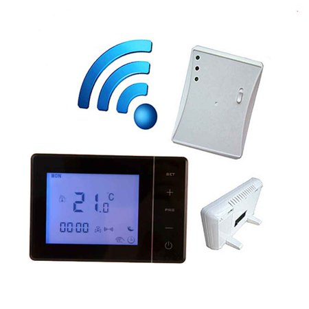 Boiler Control Panel - 433MHZ Wireless Gas Boiler Thermostat RF Control 5A Wall-hung Boiler Heating Thermostat Digital LCD Temperature Controller