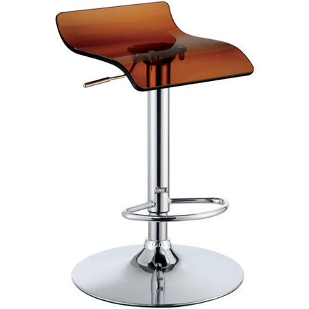 Furniture of America Mariella Contemporary Acrylic Low Back Swivel Barstools, Brown, Set of 2 Huge Contemporary Acrylic
