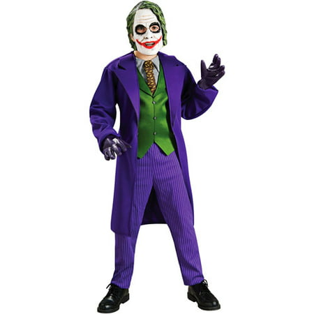 Tv And Movie Character Halloween Costumes (Batman The Joker Deluxe Child Halloween)