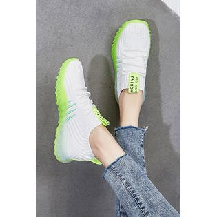 Women Lightweight Mesh Layer Running Shoes Athletic Mesh Slippers