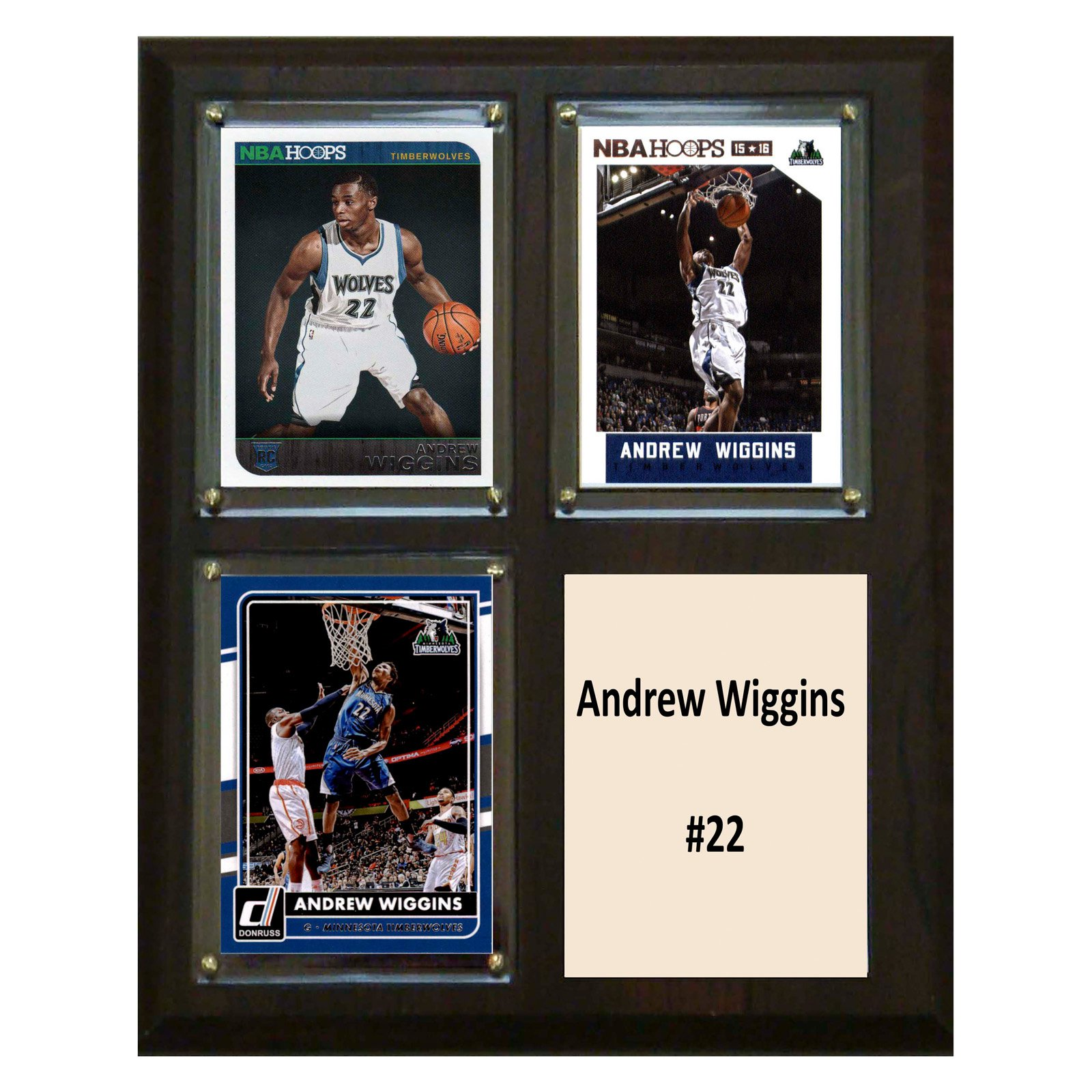 C&I Collectables NBA 8x10 Andrew Wiggins Minnesota Timberwolves 3-Card Plaque
